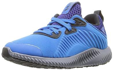 adidas Performance Boys' Alpha Bounce c Running Shoe, Shock Blue/Unity Ink/
