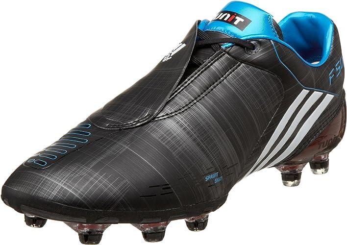 Plausible santo Generalmente hablando  Amazon.com | adidas Men's F50 I Tunit Soccer Cleat, Black/White/Cyan, 5.5 M  | Soccer