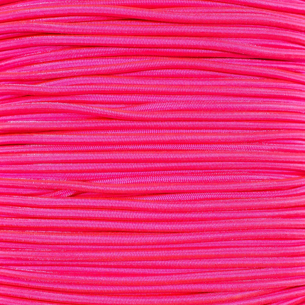 PARACORD PLANET 1/8 Inch Shock Cord - Choose from 10, 25, 50, and 100 Feet - Made in USA (Neon Pink, 25 Feet) by PARACORD PLANET