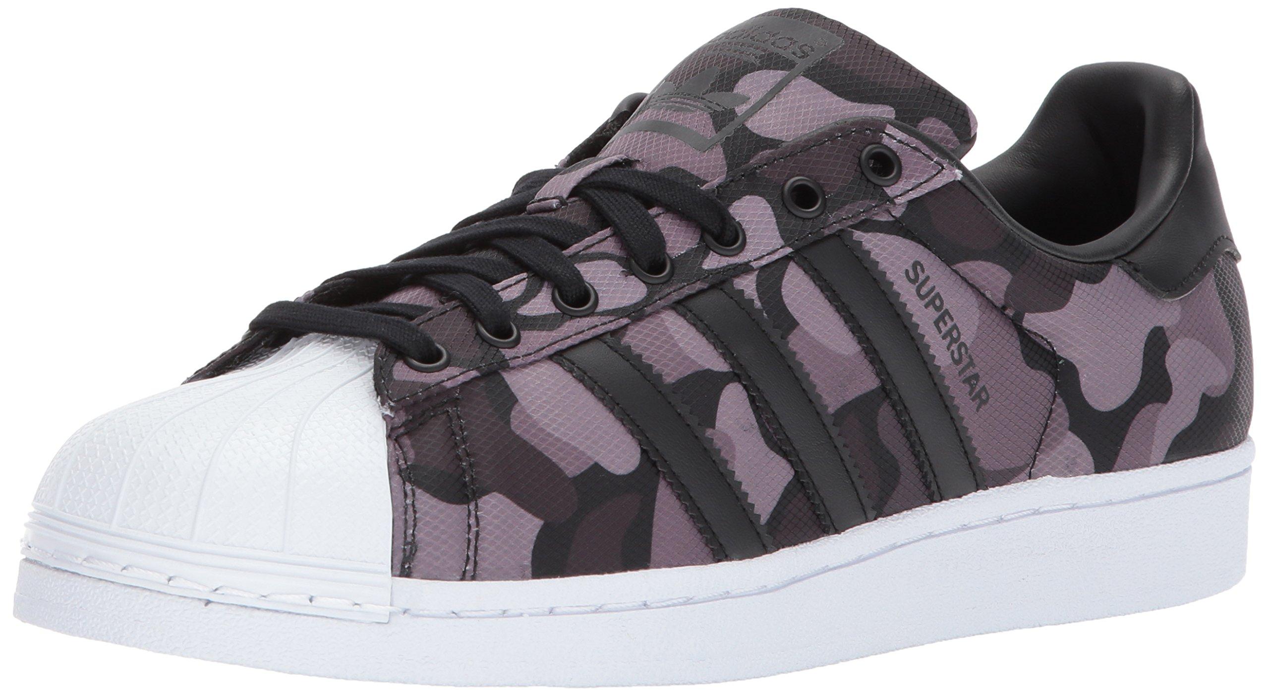 adidas Originals Men's Superstar Foundation Casual Sneaker, Black/Black/Black Snake, 5 D(M) US