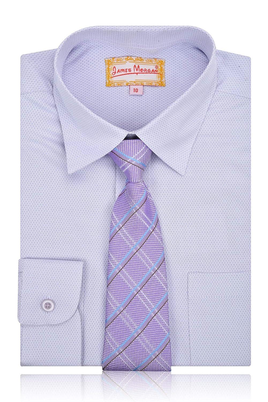Amazon James Morgan Boys Weave Design Dress Shirt With Tie