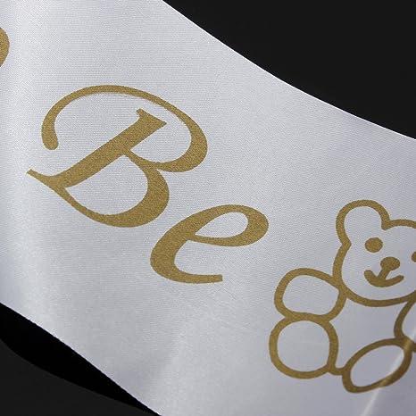 Mummy To Be White Satin Sash Banner Ribbon Baby Shower Party ...