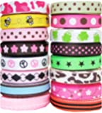 "Hip Girl Boutique Printed Grosgrain Ribbon Sampler (80yd 3/8"" Ribbon--Color May Vary)"