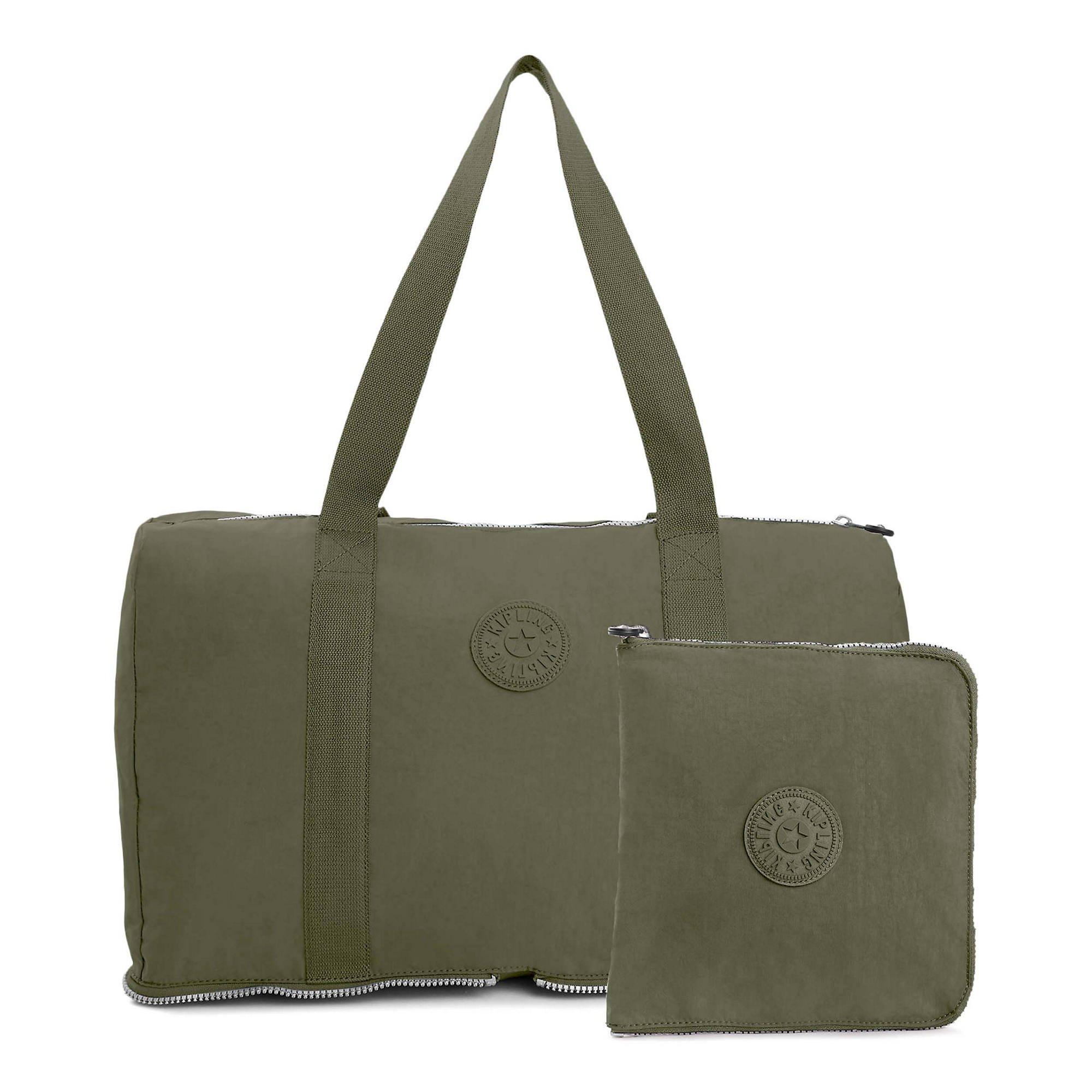 Kipling Honest Foldable Duffel Essential Travel Bag, Jaded Green