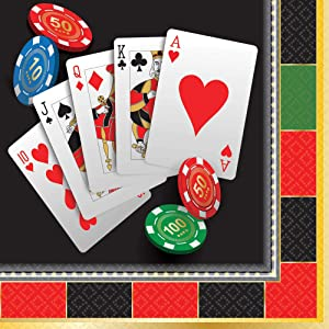 Casino Party Beverage Napkins, 16 Ct.
