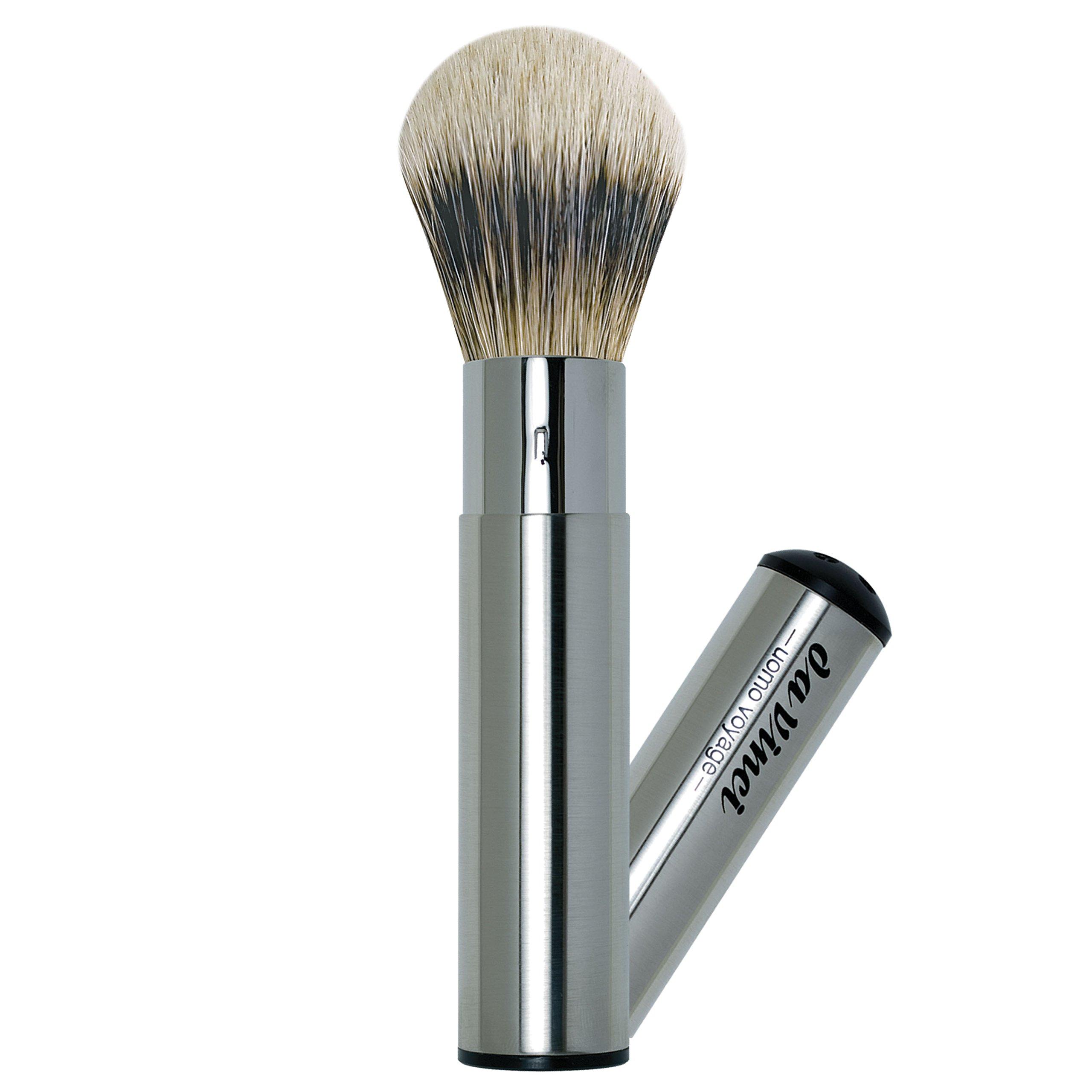 da Vinci Shaving Series 295 UOMO Silvertip Shaving Brush, Badger Hair with Retractable Metal Handle, 18mm, 83 Gram