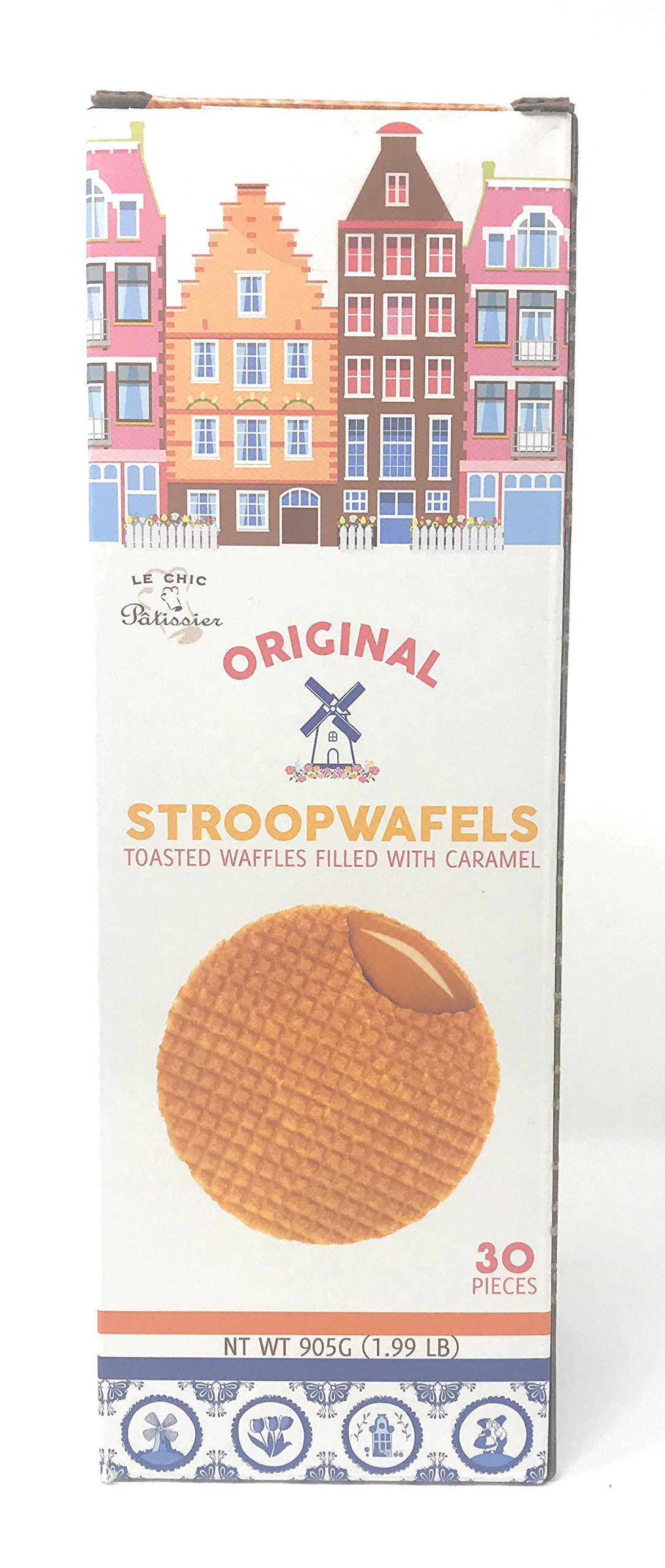 Original Stroopwafels- Toasted Waffles filled with Caramel by LE CHIC Patissier