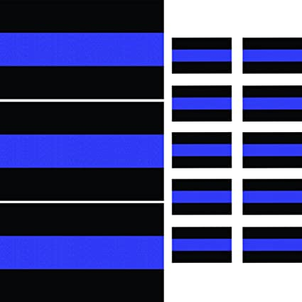 "Thin Blue Line License Plate Sticker Decal 1.5/""x1/"""
