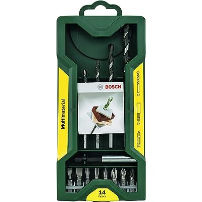 Bosch Mini X-line - Set multiuso de 14 unidades para taladrar y atornillar multimaterial
