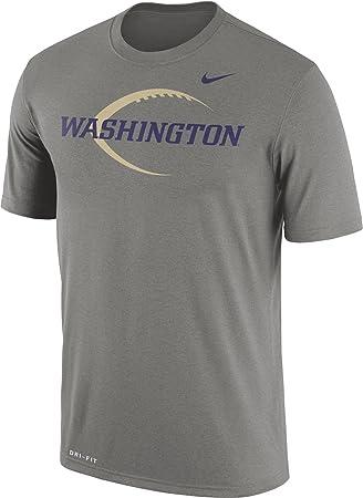 Nike Camiseta de fútbol de Washington Huskies Gris Icono Leyenda Camiseta, Gris