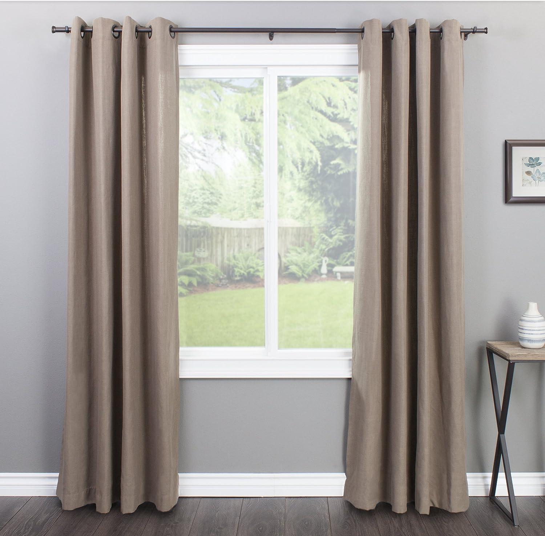 Nickel 18 to 36-Inch Decopolitan End Cap Single Curtain Rod Set
