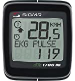 SIGMA BC1706HR DTS Wireless Bicycle Speedometer with Heart Rate Monitor