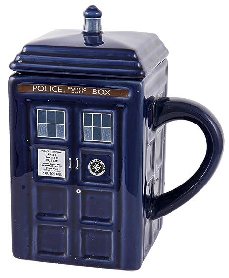Amazon.com: Taza con tapa, diseño de Doctor Who TARDIS ...