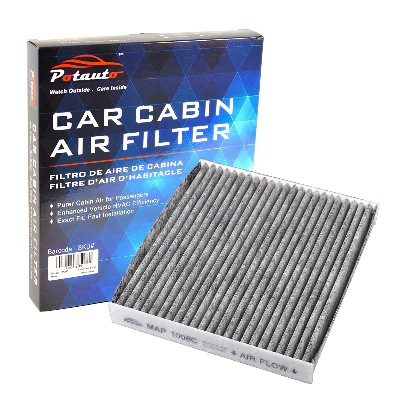 POTAUTO MAP 1008C Heavy Activated Carbon Car Cabin Air Filter Replacement compatible with LEXUS, PONTIAC, SCION, SUBARU, TOYOTA