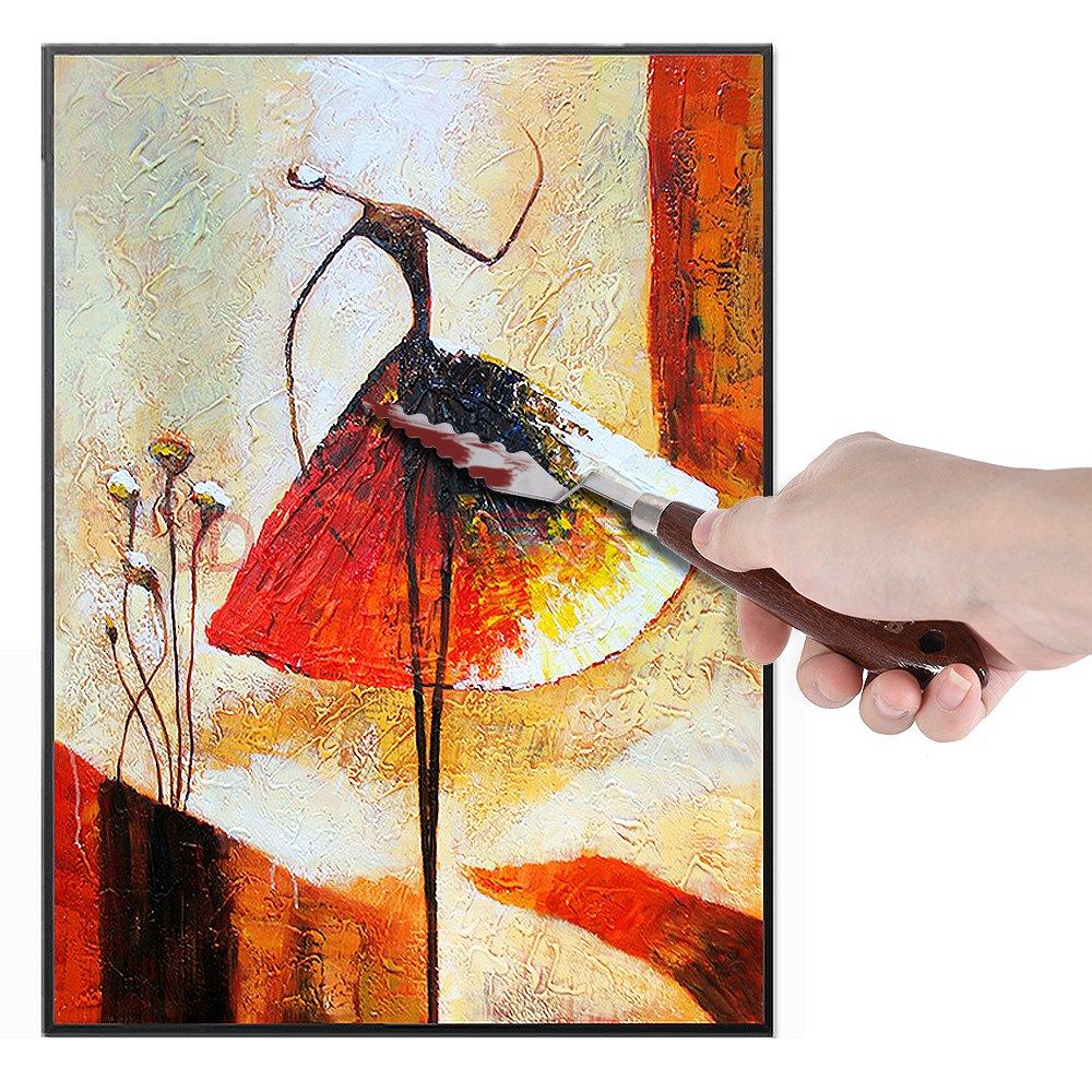 9pcs Paletten-Messer die Schaber-Spachtel-Kunst-Werkzeuge mischend stellten f/ür /Ölgem/älde-Spezialeffekt-K/ünstler ein