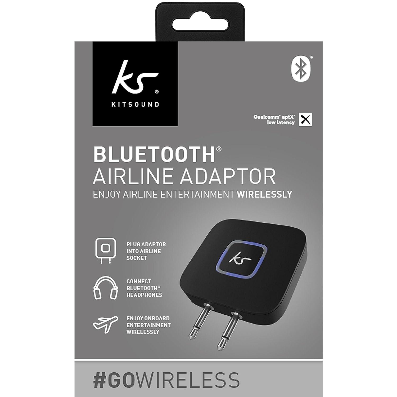 301fbf02ea0 Amazon.com   Kitsound Genuine Bluetooth Airline Plane Headphone Convertor  Adaptor - Black   Camera   Photo