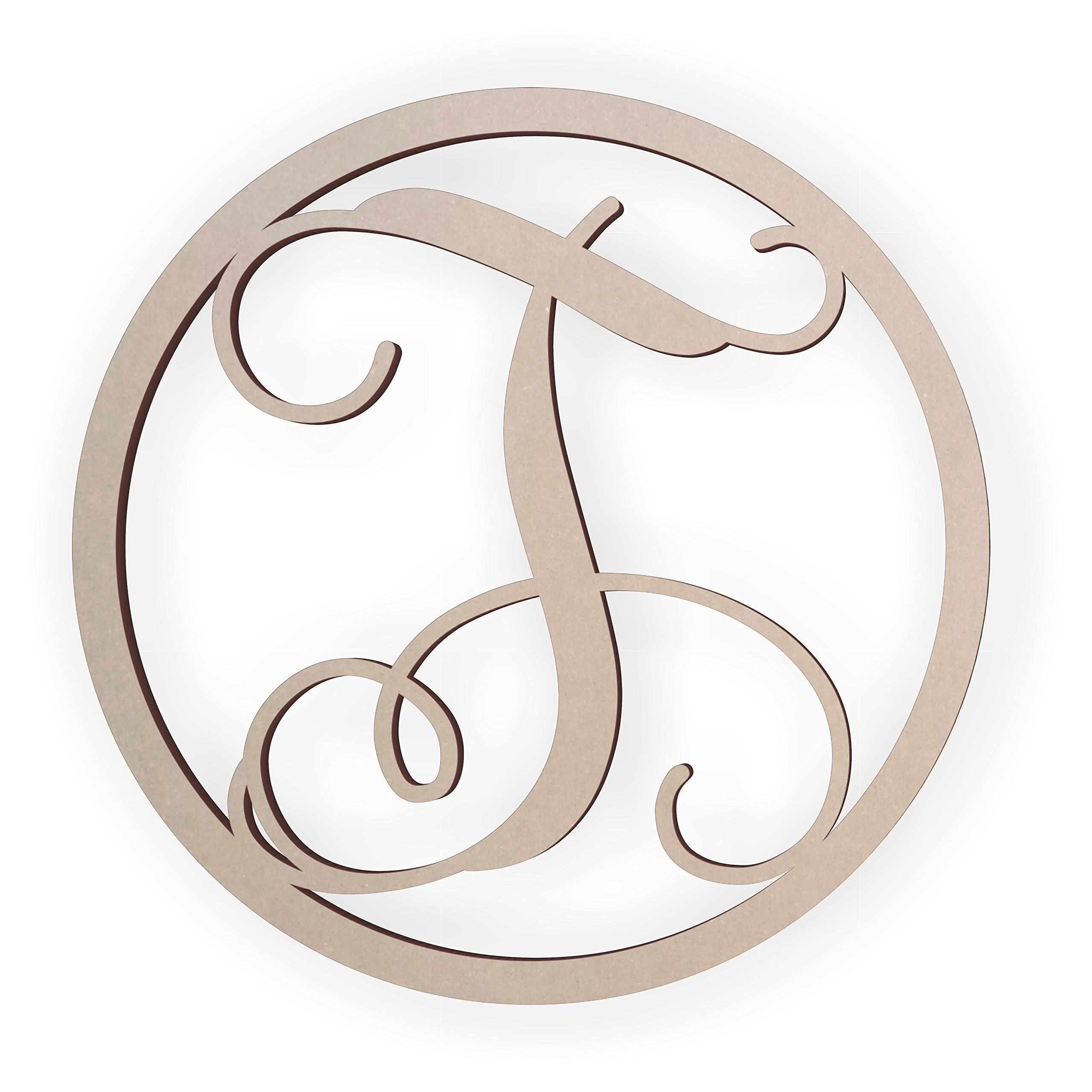 Jess and Jessica Wooden Letter T, Wooden Monogram Wall Hanging, Large Wooden Letters, Cursive Wood Letter