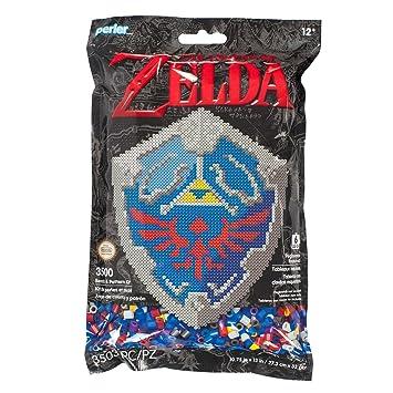 Perler 80 11125 Nintendo S The Legend Of Zelda Hylian Shield Pattern And Fuse Bead Kit 10 75 X 13 3503pc Multicolor