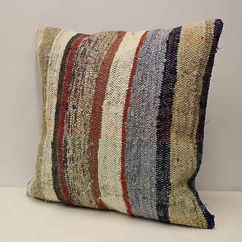 Ethnic Boho Pillow 24x24 in Vintage Pillow Throw Pillow Kilim Pillow Cover Turkish Pillow Decorative Handmade Pillow Kilim Cushion