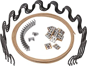 "House2Home 27"" Sofa Upholstery Spring Replacement Kit- 4pk Springs, Clips, Wire for Furniture Chair Couch Repair Includes Instructions"