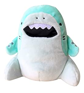 CLEVER IDIOTS INC SAMEZU ( Same-z) Shark Plush Stuffed Animal - Cute, Collectible and Cuddly Toy Character - 6.5 inch - Authentic Japanese Kawaii Design - Tiger