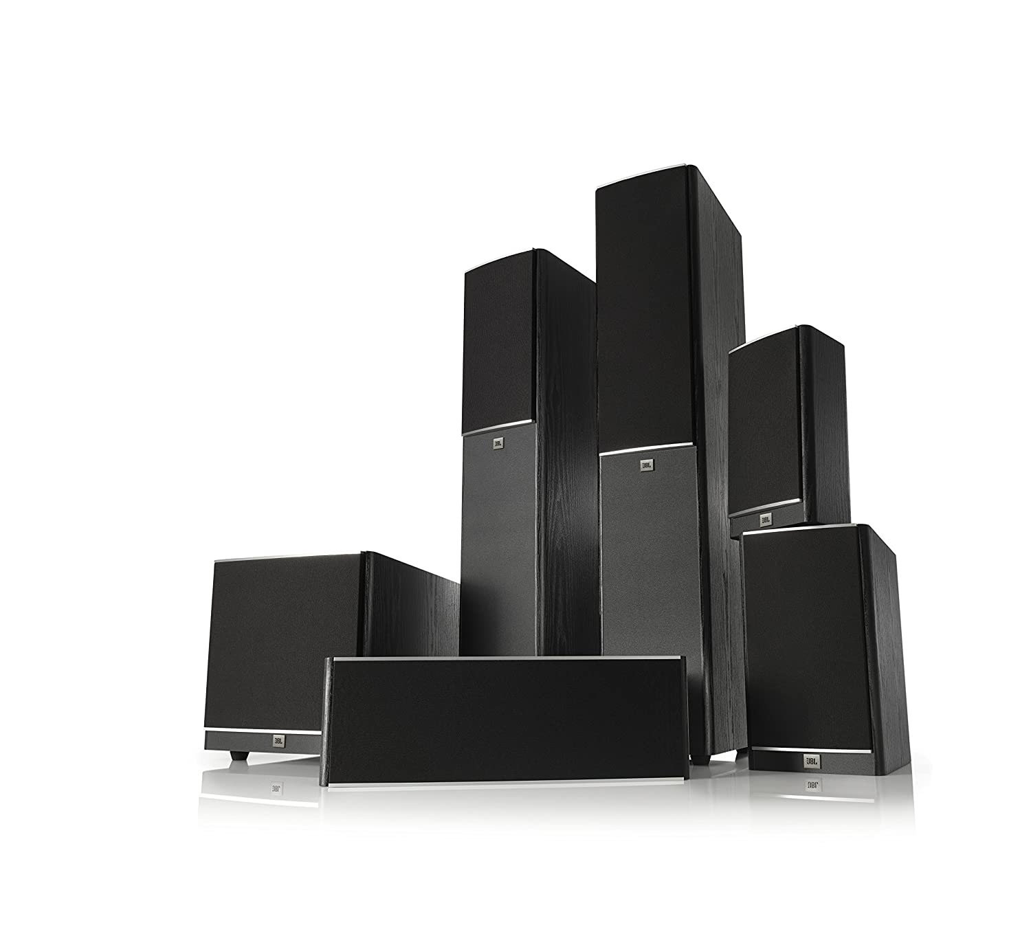 Jbl Arena 130 Black 2 Way 7 Inch Bookshelf Loudspeakers Us Power Cableusa Cableamerica Cable Bk Industrial Home Audio Theater