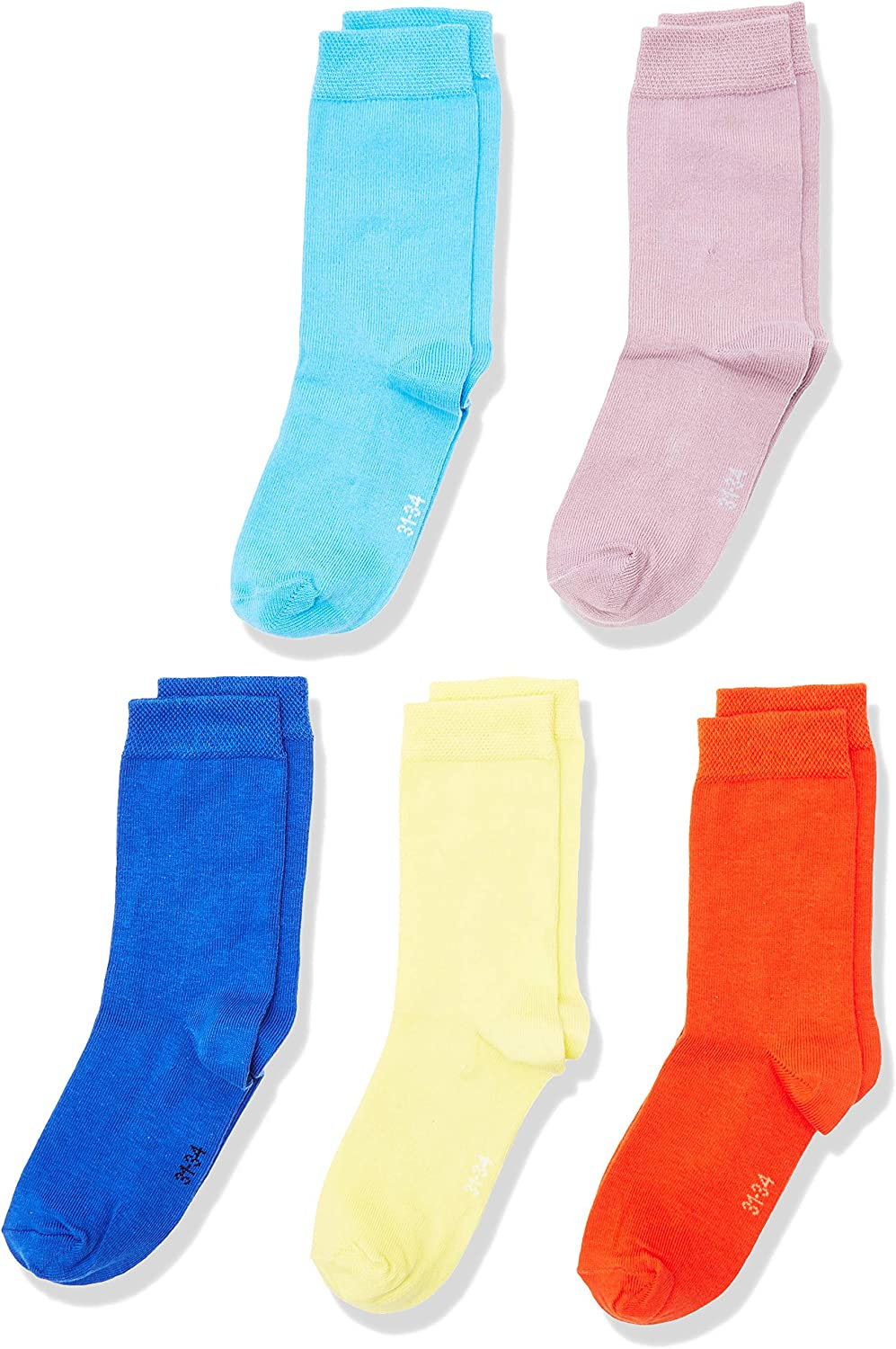 Blanco 35-38 White 660 Talla del fabricante: 35//38 Pack de 10 MyWay Kids Socks Basic 10er Calcetines