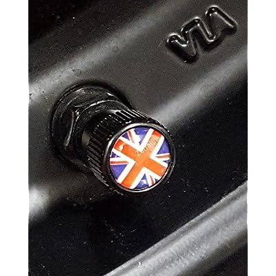 4x Zorratin Black Union Jack British Flag Tire Valve Stem Cap Cover for BMW Mini Cooper r50 r53 r56 r56n f55 f56 r55 r52 r57 r58 r59 r60 r61 jcw OEM: Automotive [5Bkhe1002385]