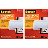 Scotch TP5854-50 Thermal Laminating Pouches, 5 Mil Thick for Extra Protection, 8.9 x 11.4-Inches, 5 mil Thick, 50-2 Pack