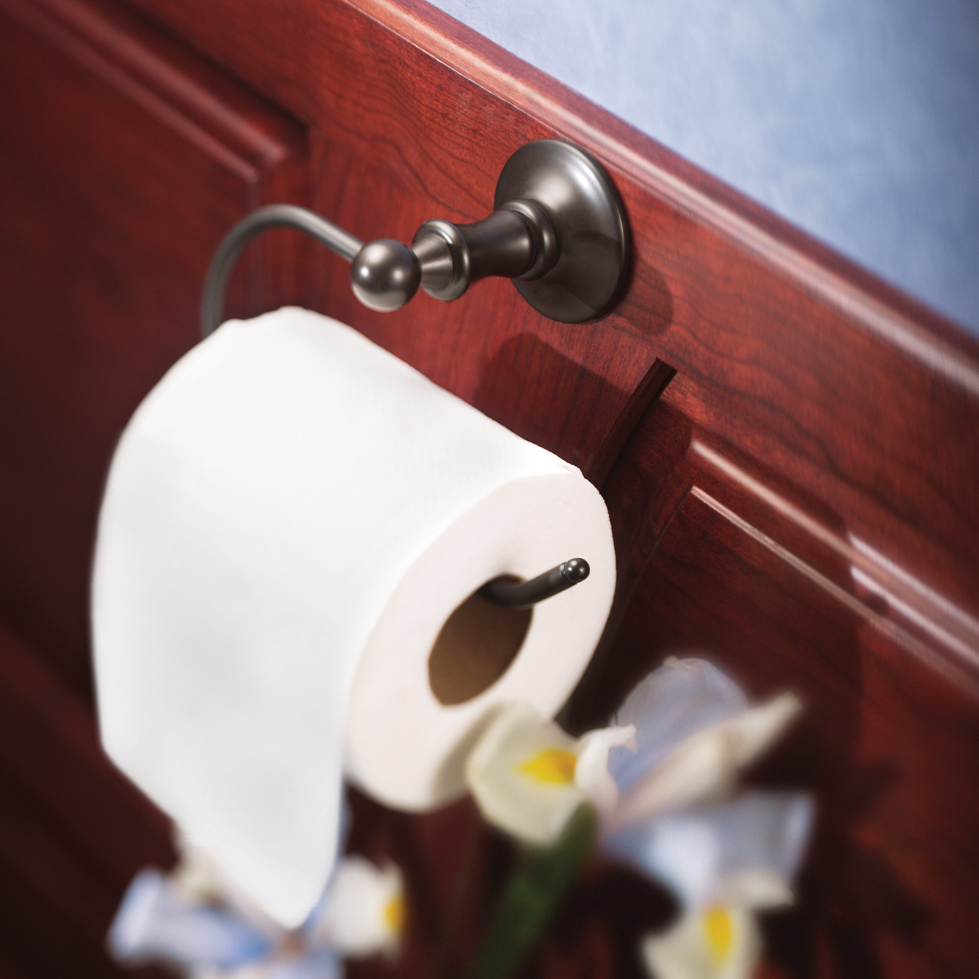 Moen DN6708ORB Danbury Toilet Paper Holder, Oil-Rubbed Bronze