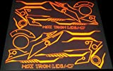 Honda Grom MSX125 Reflective Tron Sticker Decal Set Red