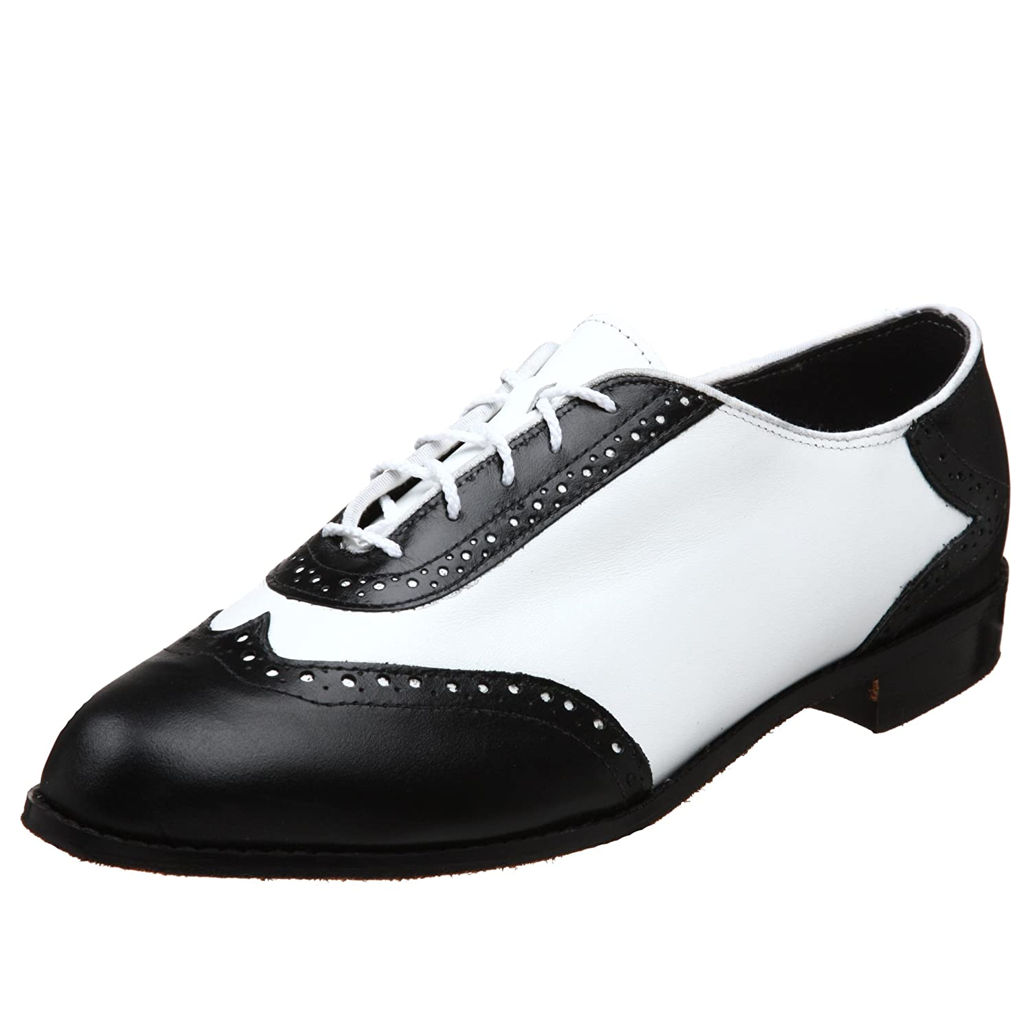 Men's Swing Dance Clothing, Vintage Dance Clothes Mens Glenn Wing Tip Dance Shoe Tic-Tac-Toes  $108.00 AT vintagedancer.com