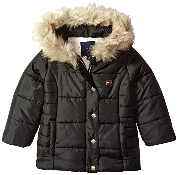 ce05f63a Tommy Hilfiger Toddler Girl's Peacoat Puffer Jacket Outerwear, Black, ...