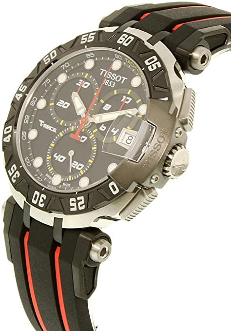 Amazon.com: Tissot Mens T-Race Swiss Quartz Stainless Steel and Rubber Casual watchMulti Color (Model: T0924172705100): Tissot: Watches