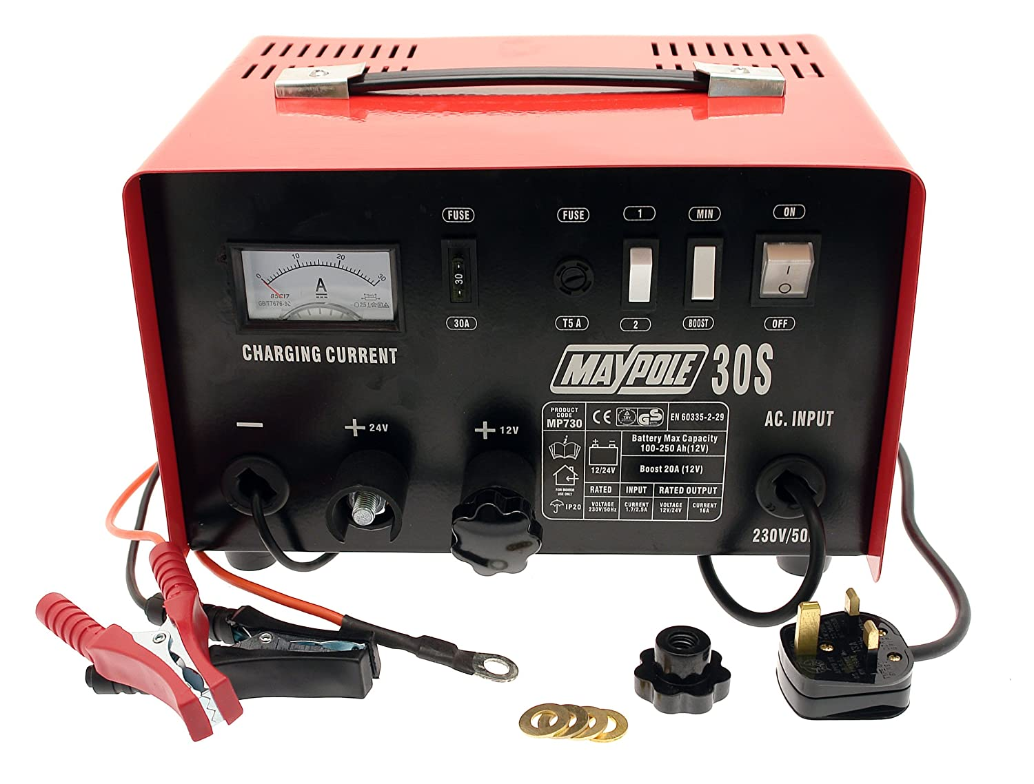 Maypole M730 20 A Metal Battery Charger 12/24 V Maypole Limited