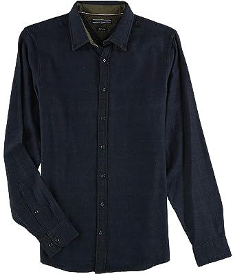 12751e33 Tommy Hilfiger Mens Doubleface Button Up Shirt Blue L at Amazon Men's  Clothing store: