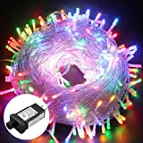 Amazon Price History for:Excelvan Safe Low Voltage 250 LEDs 50M Fairy String Lights 8 Modes for Indoor Outdoor Party Wedding Christmas Decoration, Multi Color