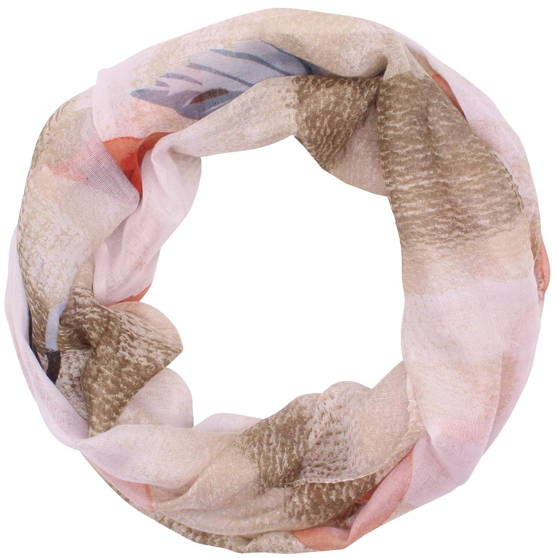 Zarter Sommer ausbrenner Loopschal Model:Seestern angenehm und leicht zu tragen Loop Damen Rundschal Schal Sommerschal
