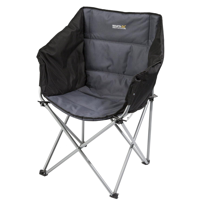 Regatta Great Outdoors Navas Camping-Stuhl (Einheitsgröße) (Schwarz/Siegelgrün)