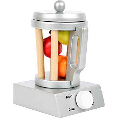 Small Foot Wooden Toys Wooden Blender Set Includes Fruit for Play Kitchens Designed for Children Ages 3+: Toys & Games