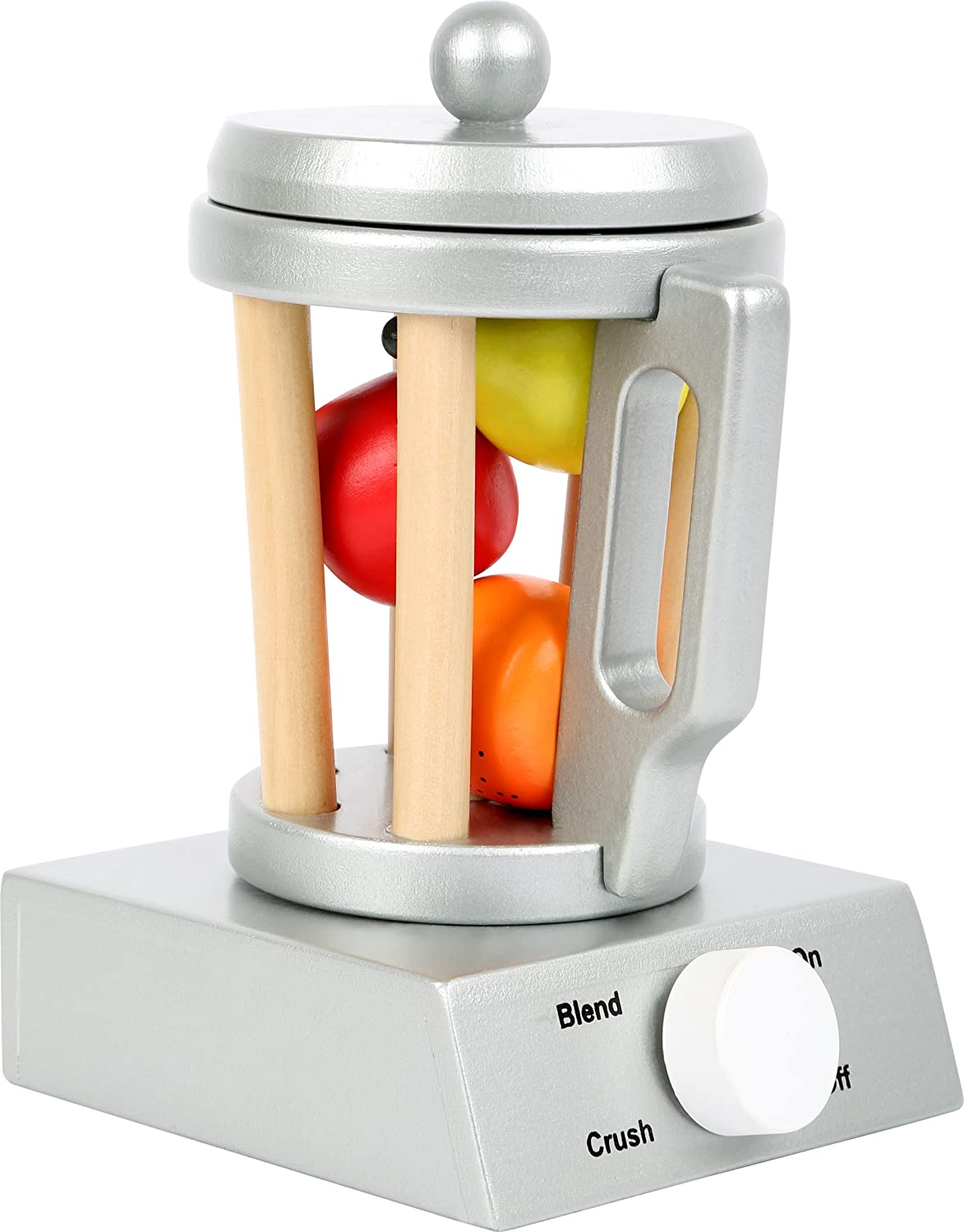 small foot wooden toys Wooden Blender Set Includes Fruit for Play Kitchens Designed for Children Ages 3+
