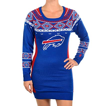 Klew NFL Football 2015 Womens Big Logo Sweater Dress (Buffalo Bills 77432f16e