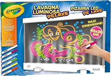 Crayola- Lavagna Luminosa Deluxe Pizarra Led, Multicolor (25-7246)