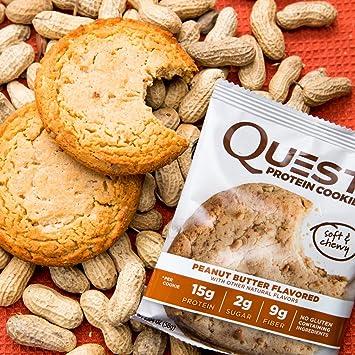 Quest Nutrition Protein Cookie Peanut Butter - 12 Barras: Amazon.es: Salud y cuidado personal
