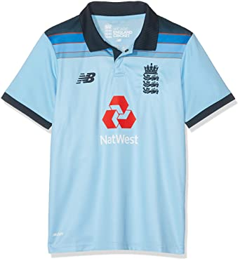 New Balance ECB Replica ODI Junior Short Sleeve Polo Camiseta ...