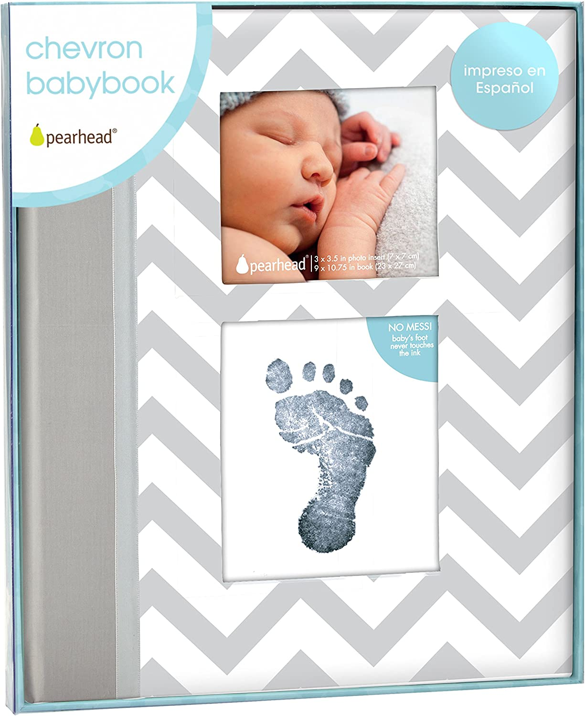 Pearhead P62212 - Libro bebé, color gris
