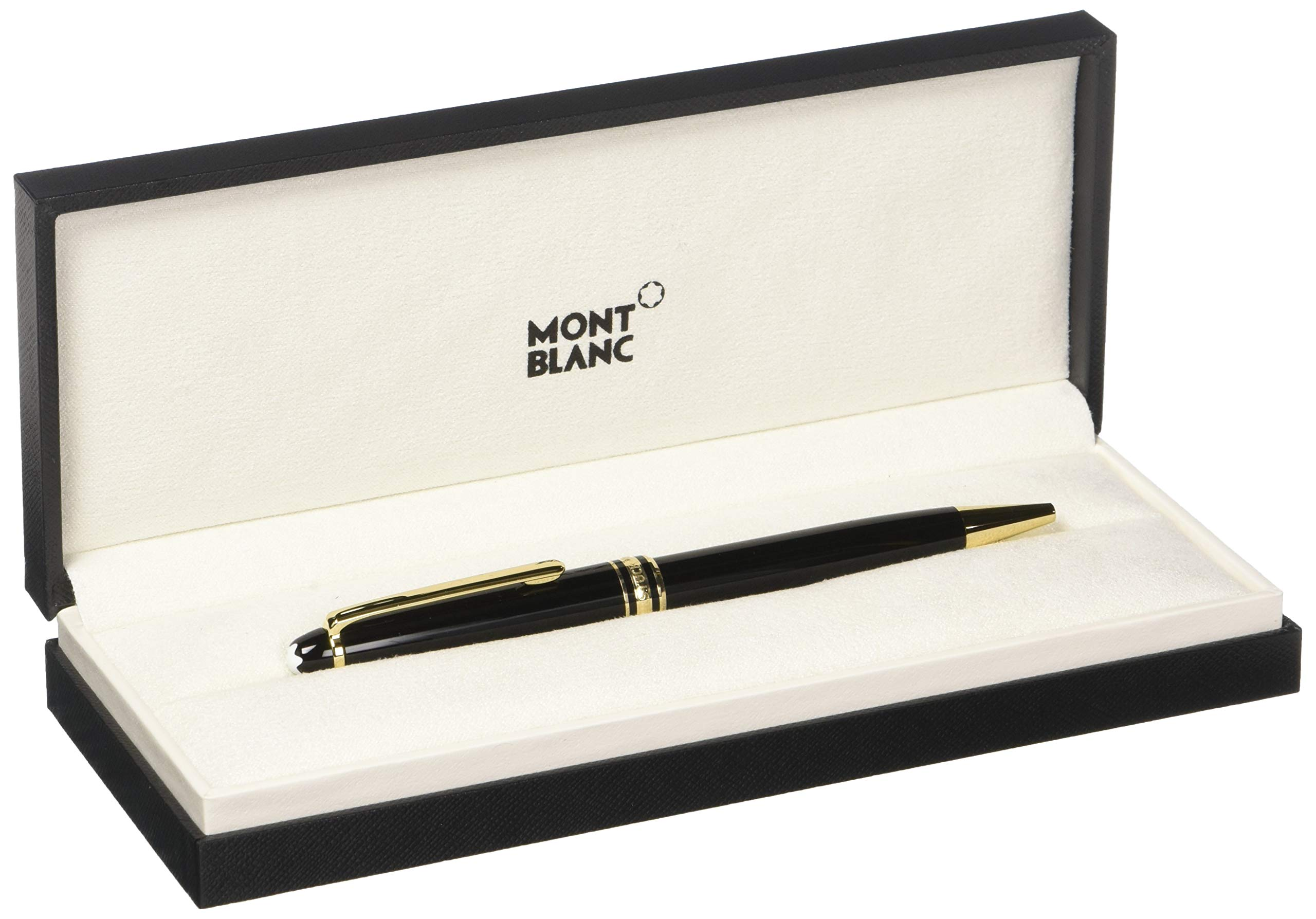 Meisterstuck Black Ballpoint Pen 164 Gold Plated by MONTBLANC (Image #3)