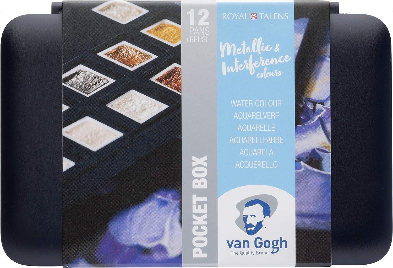 Royal Talens Caja De Acuarela De Bolsillo Van Gogh-Colores Metálicos & Interferentes: Amazon.es: Hogar