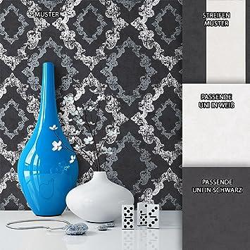 Fantastisch NEWROOM Barocktapete Tapete Schwarz Ornament Barock Vliestapete Weiß Vlies  Moderne Design Optik Barocktapete Wohnzimmer Glamour Inkl
