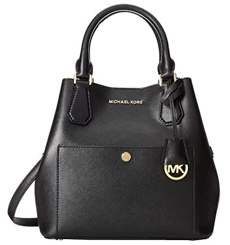 michael kors greenwich medium grab bag black red chili handbags rh amazon com